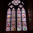 Stained Glass Window inside Notre-Dame